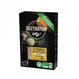 Café cápsulas biodegradables Moka pura arábica ETHIOPIA BIO Destination 10 X 55 GR