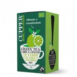 Té verde con lima y jengibre BIO Cupper 20 bolsas
