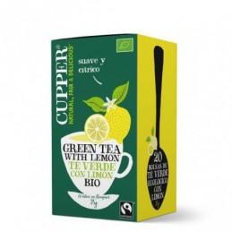 Té verde con limón BIO Cupper 20 bolsas