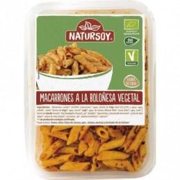 Macarrones a la boloñesa vegetal NaturSoy 300g