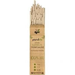 Pajitas desechables de bambú Pandoo 50 unidades