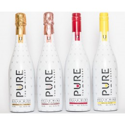 Pure vino espumoso rosado 10,5% de alcohol 750ml