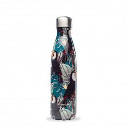 Botella isotérmica de acero inoxidable de 500ML.Tropical DE QWETCH