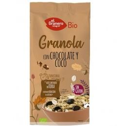Granola con chocolate y coco Sin Gluten 350g El Granero