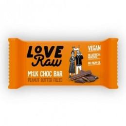 Barrita rellena con crema de cacahuete Love Raw 30gr