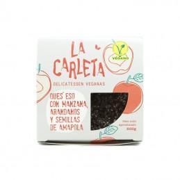 Queso con manzana y  semillas de amapola 200 gr La Carleta