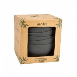 Set de 6 Bowls de bambu color negro Pandoo