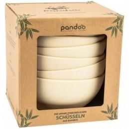 Ser de 6 Bowls de bambú color blanco Pandoo