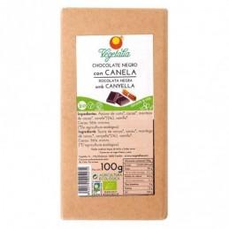 Tableta de chocolate negro con canela Vegetalia 100g