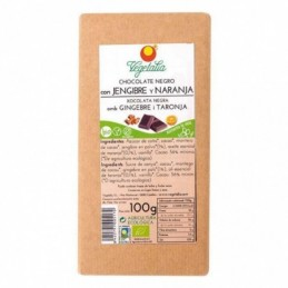 Tableta de chocolate con jengibre y naranja Vegetalia 100g