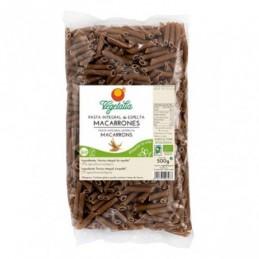 Macarrones de trigo integral Vegetalia 500g