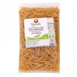 Macarrones de trigo blanco Vegetalia 500g